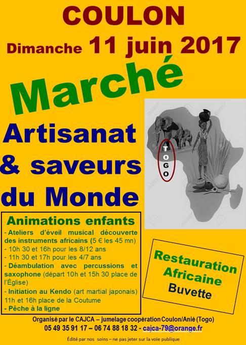 CAJCA Marché du Monde 11 Juin 2017 à Coulon