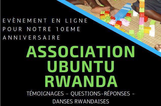 Affiche évènement en ligne 10 ans Association Ubuntu